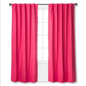 Target pillowfort two pink panel curtains